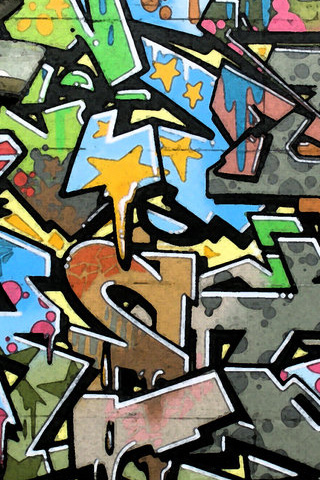 Graffiti iPod Touch Wallpaper
