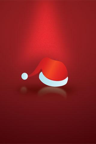Santa Hat iPod Touch Wallpaper