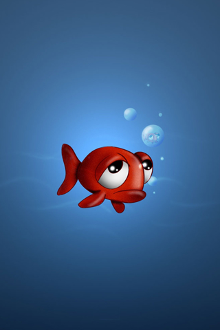 Sad Fish iPod Touch Wallpaper
