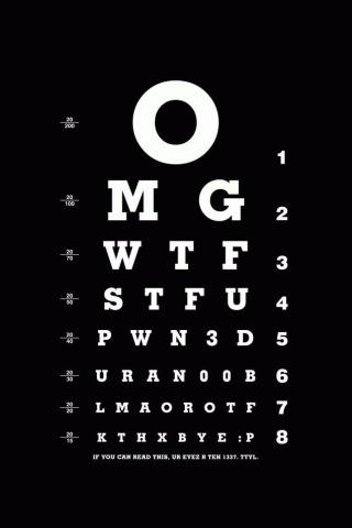 Eye Chart iPod Touch Wallpaper