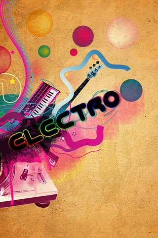 Electro iPod Touch Wallpaper