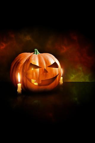Pumpkin iPod Touch Wallpaper