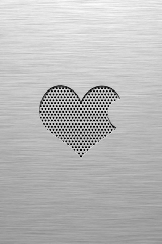 Apple Heart iPod Touch Wallpaper