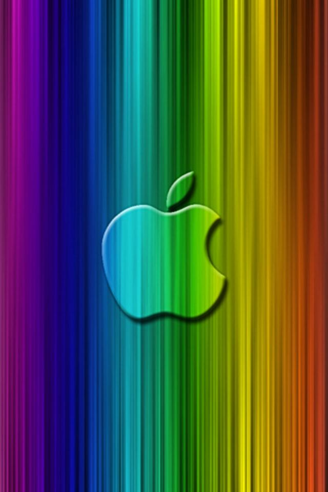 apple rainbow ipod touch wallpaper background and theme