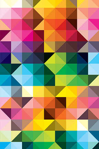 Colors Illusion iPod Touch Wallpaper