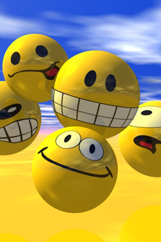 Happy Emoticons iPod Touch Wallpaper