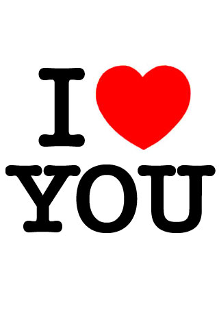 I Love You iPod Touch Wallpaper