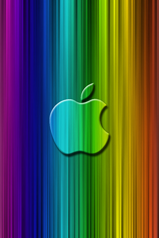 Apple Rainbow iPod Touch Wallpaper