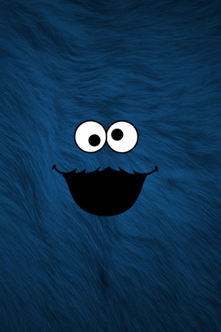 Cookie Monster iPod Touch Wallpaper