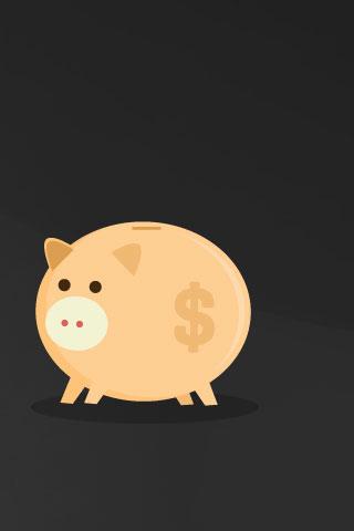 Piggy Bank iPod Touch Wallpaper