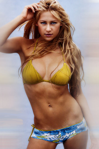 Anna Kournikova iPod Touch Wallpaper