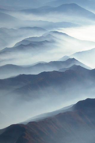Mountain Fog iPod Touch Wallpaper