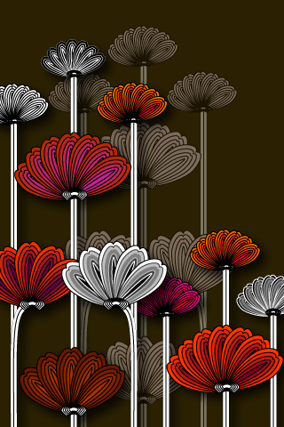 Flowers Abstract iPod Touch Wallpaper