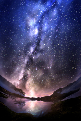 Stardust iPod Touch Wallpaper