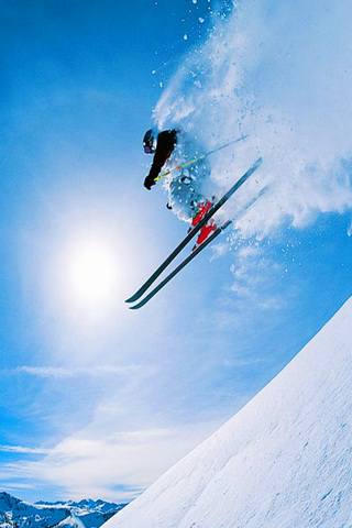 Skiing iPod Touch Wallpaper