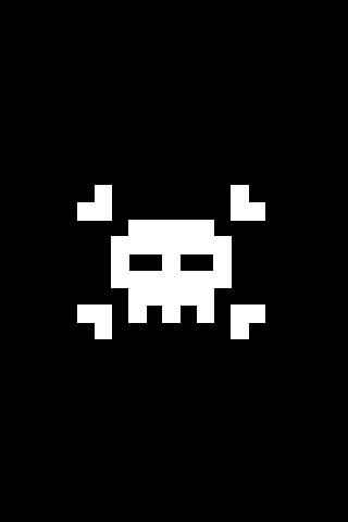 Pixel Skull iPod Touch Wallpaper