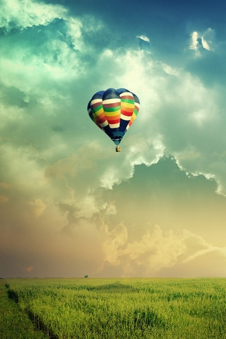 Hot Air Balloon iPod Touch Wallpaper