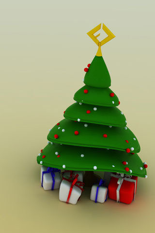 Christmas Tree iPod Touch Wallpaper