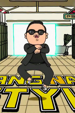 Gangnam Style iPod Touch Wallpaper