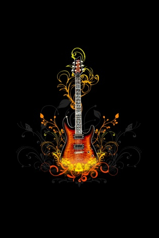 guitar wallpapers. Guitar iPod Touch Wallpaper