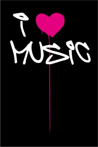 I Love Music iPod Touch Wallpaper