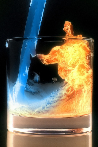 Aqua Fire iPod Touch Wallpaper