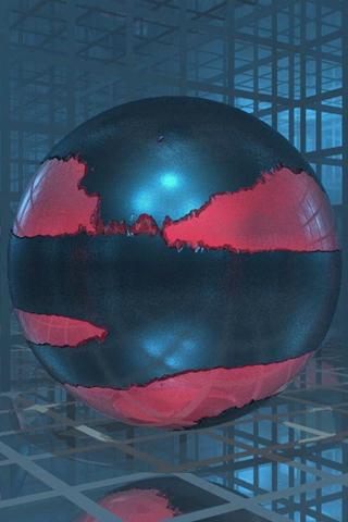 3D Ball Glass iPod Touch Wallpaper