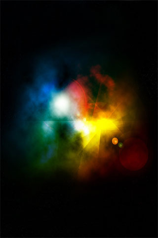 Space Lighting iPod Touch Wallpaper