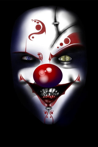 Bad Clown iPod Touch Wallpaper