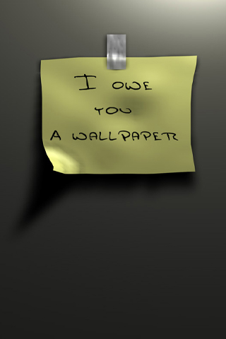 I O U iPod Touch Wallpaper