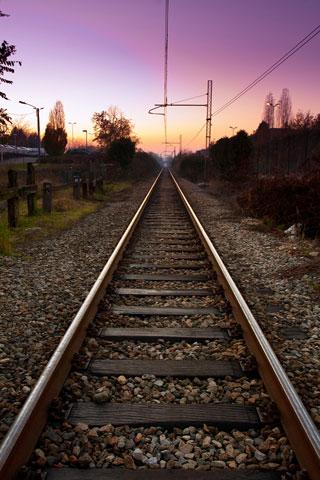 Train Track iPod Touch Wallpaper