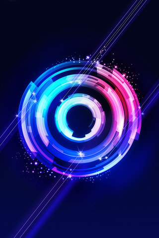 Abstract Circle iPod Touch Wallpaper