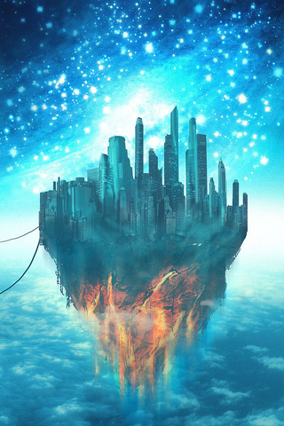 Floating City iPod Touch Wallpaper