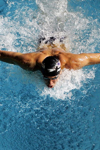 Swimmer iPod Touch Wallpaper