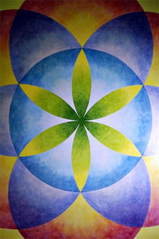Geometrical Flower iPod Touch Wallpaper
