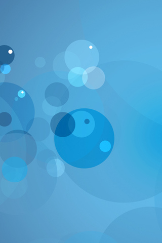 Abstract Blue iPod Touch Wallpaper