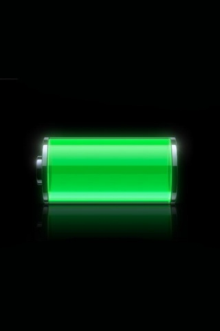 Full Battery iPod Touch Wallpaper