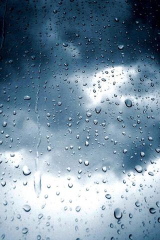 Raining iPod Touch Wallpaper