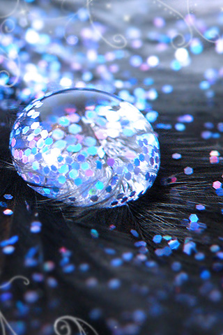 Glitters Drop iPod Touch Wallpaper