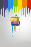 Apple Paint iPod Touch Wallpaper