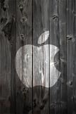 Apple Wood iPod Touch Wallpaper