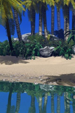 Paradise Beach iPod Touch Wallpaper