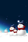Snowman iPod Touch Wallpaper