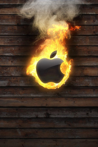 Fire Apple iPod Touch Wallpaper