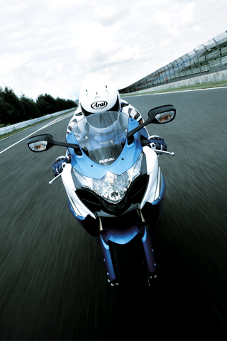 Motorcycle Racer iPod Touch Wallpaper