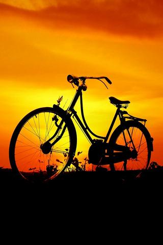Sunset Bike iPod Touch Wallpaper