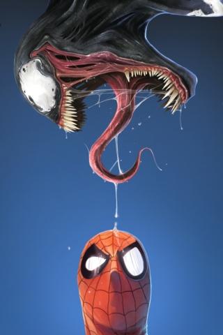 Venom Spiderman iPod Touch Wallpaper