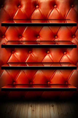 Red Shelf iPod Touch Wallpaper